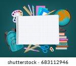 back to school banner  poster... | Shutterstock .eps vector #683112946