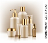 realistic luxury gamorous set... | Shutterstock .eps vector #683115922