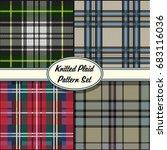vector knitted plaid tartan... | Shutterstock .eps vector #683116036