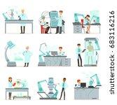 artificial intelligence  new... | Shutterstock .eps vector #683116216