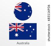 australia flag set. australian... | Shutterstock .eps vector #683116936