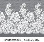 seamless vector white lace... | Shutterstock .eps vector #683120182