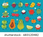 vintage food poster design with ... | Shutterstock .eps vector #683120482