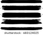 grunge paint stripe . vector... | Shutterstock .eps vector #683124025