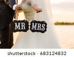 the bride and groom near the... | Shutterstock . vector #683124832