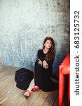 woman in black | Shutterstock . vector #683125732
