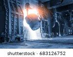 blast furnace smelting liquid... | Shutterstock . vector #683126752
