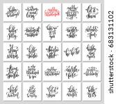 25 hand lettering poster set to ... | Shutterstock . vector #683131102