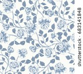 floral seamless pattern with... | Shutterstock .eps vector #683141848
