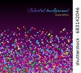 multicolored iridescent... | Shutterstock . vector #683142046