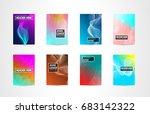 a4 brochure cover mininal... | Shutterstock .eps vector #683142322