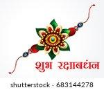happy raksha bandhan... | Shutterstock .eps vector #683144278