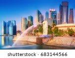 singapore city  singapore ... | Shutterstock . vector #683144566