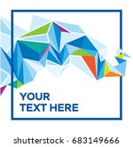 vector faceted background made... | Shutterstock .eps vector #683149666