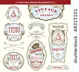 vintage design elements | Shutterstock .eps vector #68315101