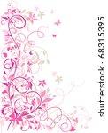valentine floral border   Shutterstock .eps vector #68315395