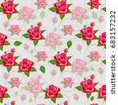 beautiful seamless floral... | Shutterstock .eps vector #683157232