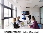 boss dresed as teddy bear... | Shutterstock . vector #683157862
