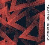 vector abstract stippled weird... | Shutterstock .eps vector #683162452