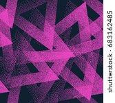 vector abstract stippled weird... | Shutterstock .eps vector #683162485