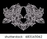 neckline  design. black and... | Shutterstock .eps vector #683165062