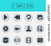 vector illustration set of... | Shutterstock .eps vector #683165992
