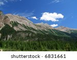 Rocky mountains scenery in summer - stock photo