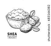 shea butter vector drawing.... | Shutterstock .eps vector #683166382