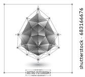 vector retro futurism abstract... | Shutterstock .eps vector #683166676
