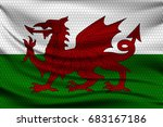national flag of wales on wavy... | Shutterstock .eps vector #683167186
