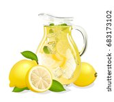 jug of lemonade | Shutterstock .eps vector #683173102