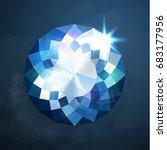shiny abstract blue diamond...   Shutterstock . vector #683177956