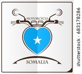 motorcycle logo made from the... | Shutterstock .eps vector #683178286