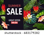 beautiful summer sale banner ... | Shutterstock .eps vector #683179282