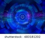 high computer communication... | Shutterstock .eps vector #683181202