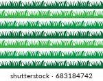 green grass pattern | Shutterstock .eps vector #683184742