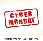 illustration of cyber monday... | Shutterstock .eps vector #683184796