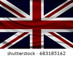 national flag of great britain... | Shutterstock .eps vector #683185162