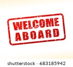 illustration of welcome aboard... | Shutterstock .eps vector #683185942