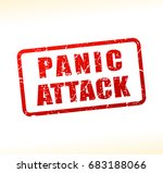 illustration of panic attack... | Shutterstock .eps vector #683188066