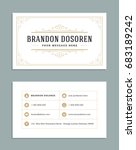 business card vintage ornament... | Shutterstock .eps vector #683189242