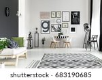 black and white walls in...   Shutterstock . vector #683190685