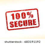 illustration of secure text... | Shutterstock .eps vector #683191192