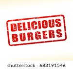 illustration of delicious... | Shutterstock .eps vector #683191546