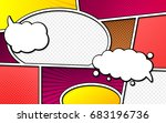 vector mock up of a typical... | Shutterstock .eps vector #683196736