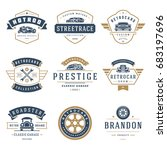 car logos templates vector... | Shutterstock .eps vector #683197696