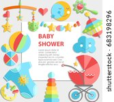 vector flat infancy background. ... | Shutterstock .eps vector #683198296