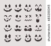 happy halloween teeth  set of... | Shutterstock .eps vector #683200345