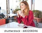portrait of beautiful young... | Shutterstock . vector #683208346