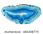 amazing blue agate crystal... | Shutterstock . vector #683208775